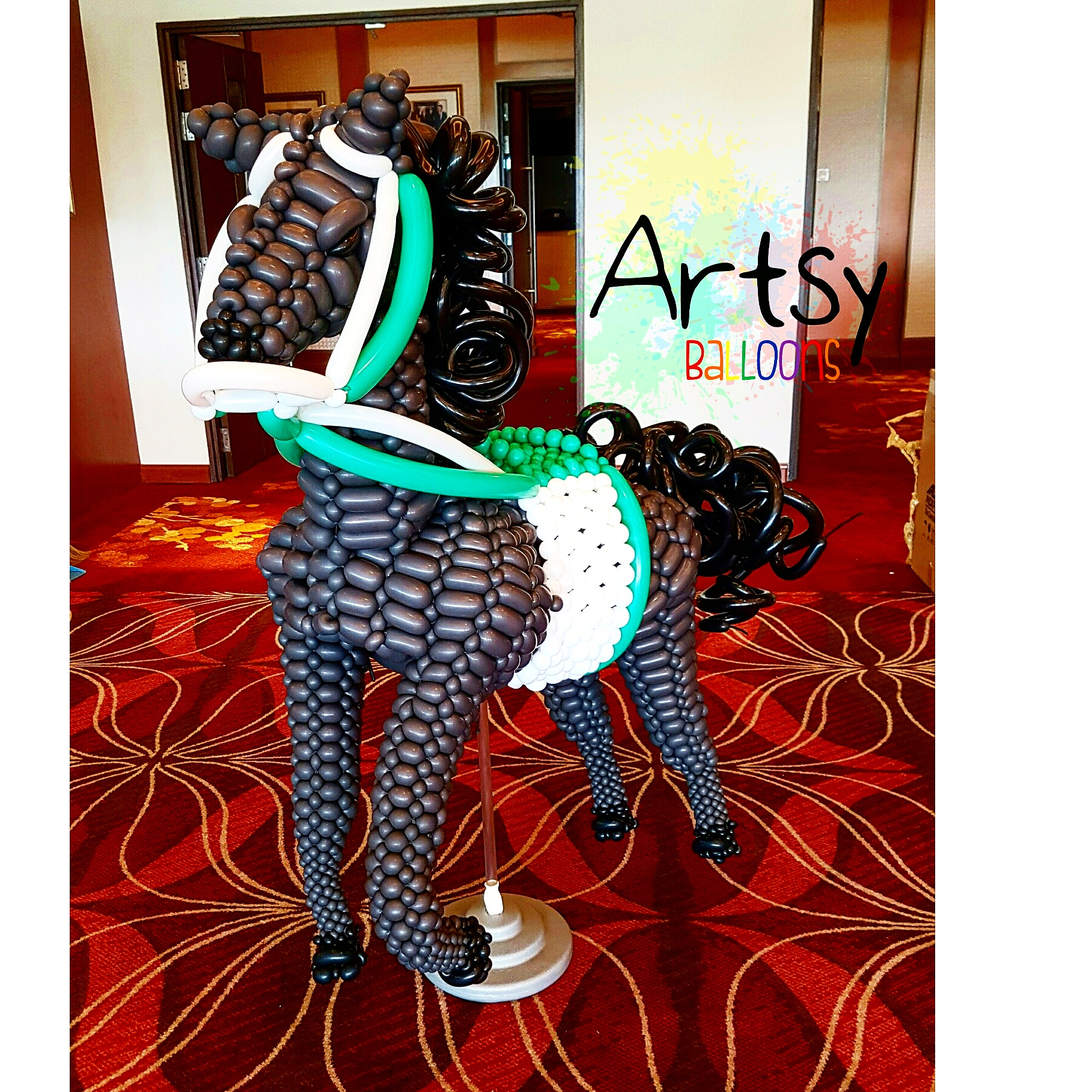 , Insane balloon horse I did for turf city singapore, Singapore Balloon Decoration Services - Balloon Workshop and Balloon Sculpting