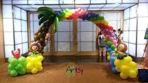 Beach theme balloon arch
