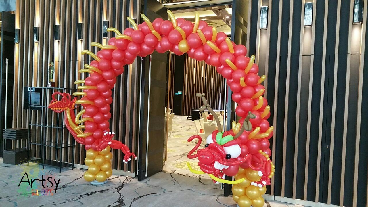 Amazing arch done for my client for Chinese new year