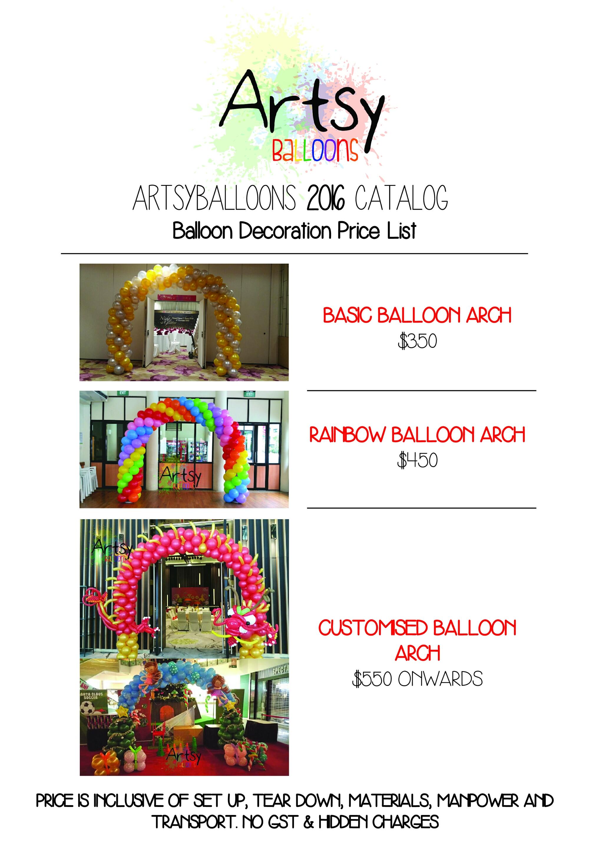 , ?Balloon arch Singapore price, Singapore Balloon Decoration Services - Balloon Workshop and Balloon Sculpting