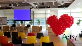 Red balloon heart flat style (2)