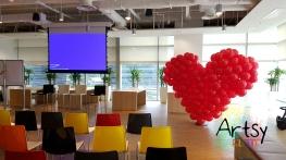 Red balloon heart flat style (2)