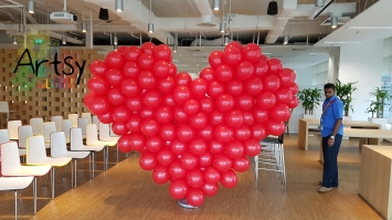 Red balloon heart flat style (3)