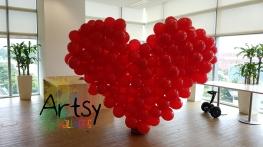 Red balloon heart flat style