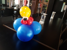 Bunch of sea creature balloon table centerpiece balloon sculpture tako Balloon Sculpture table centerpiece decoration singapore