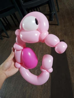 Bunch of sea creature balloon table centerpiece balloon sculpture seahorse Balloon Sculpture table centerpiece decoration singapore