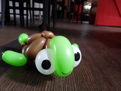Bunch of sea creature balloon table centerpiece balloon sculpture turtle Balloon Sculpture table centerpiece decoration singapore