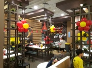 Setting up balloon decoration for Jollibee singapore (8)