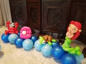 underwater theme table centerpiece balloon decorations (7)