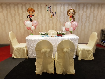 wedding balloon decorations bride and groom sculpture (2)
