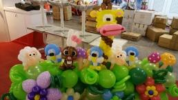 Animal themed balloon backdrop display singapore (6)