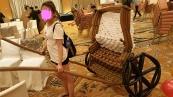 Jocelyn pulling trishaw