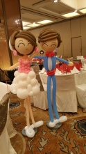 Retro balloon couple display