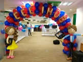 Ballon arch for NTU School of EEE