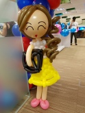 Balloon girl sculpture for NTU School of EEE