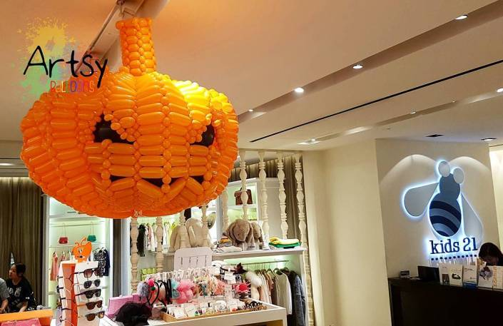 , Balloon Pumpkin for Kids 21 for Halloween!, Singapore Balloon Decoration Services - Balloon Workshop and Balloon Sculpting