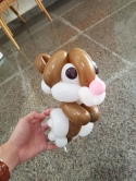 Balloon Hamster sculpture
