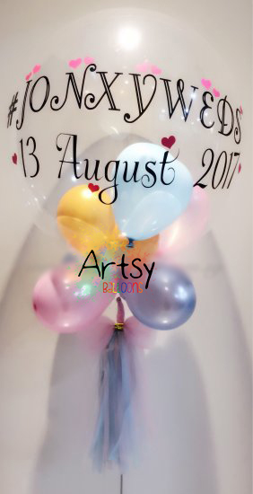Customised printed balloon for birthday party and wedding