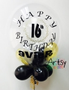 Customised printed balloon for birthday party and wedding(14)