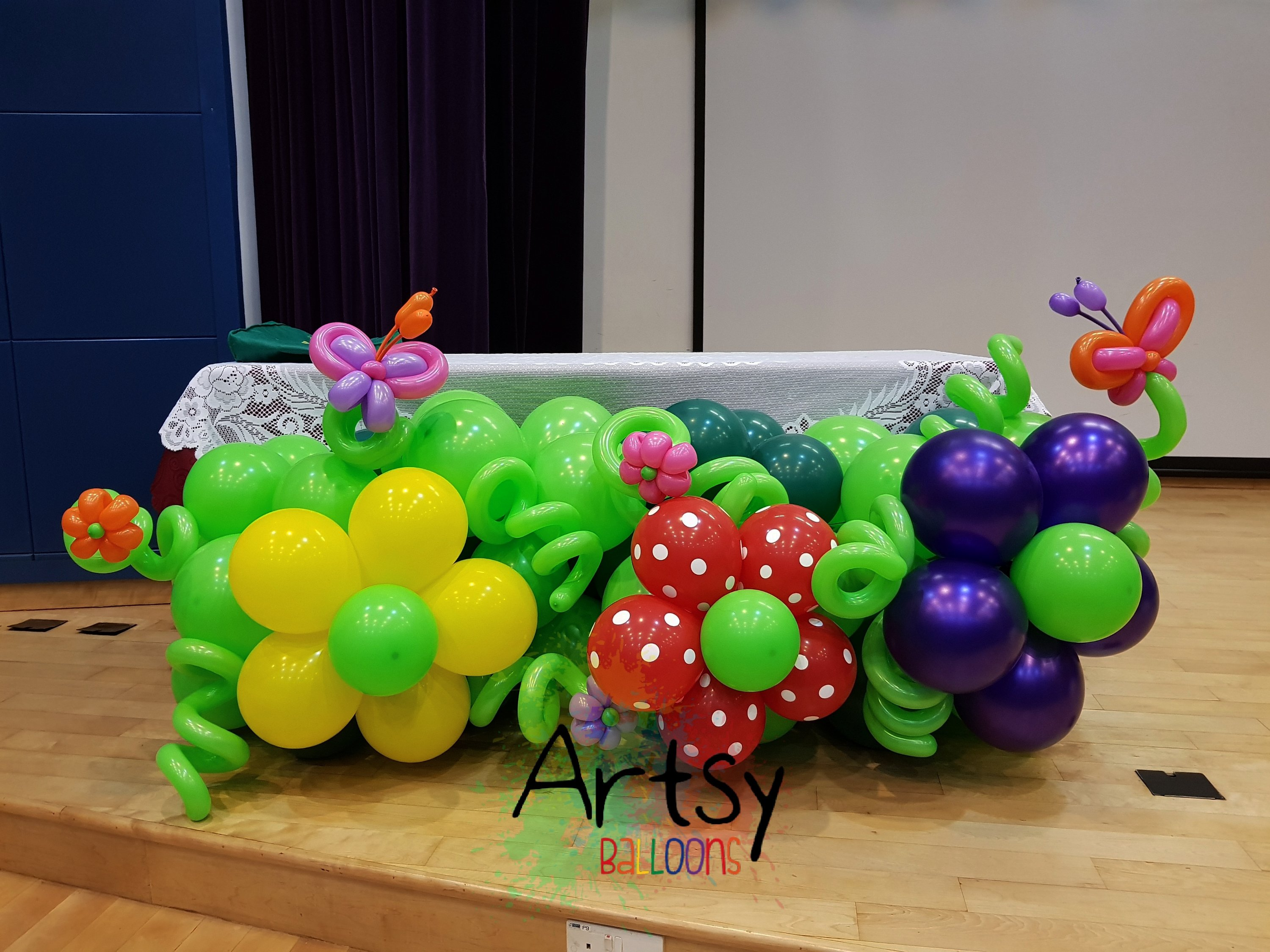 , Did it balloon decoration for Mayflower Secondary School!, Singapore Balloon Decoration Services - Balloon Workshop and Balloon Sculpting