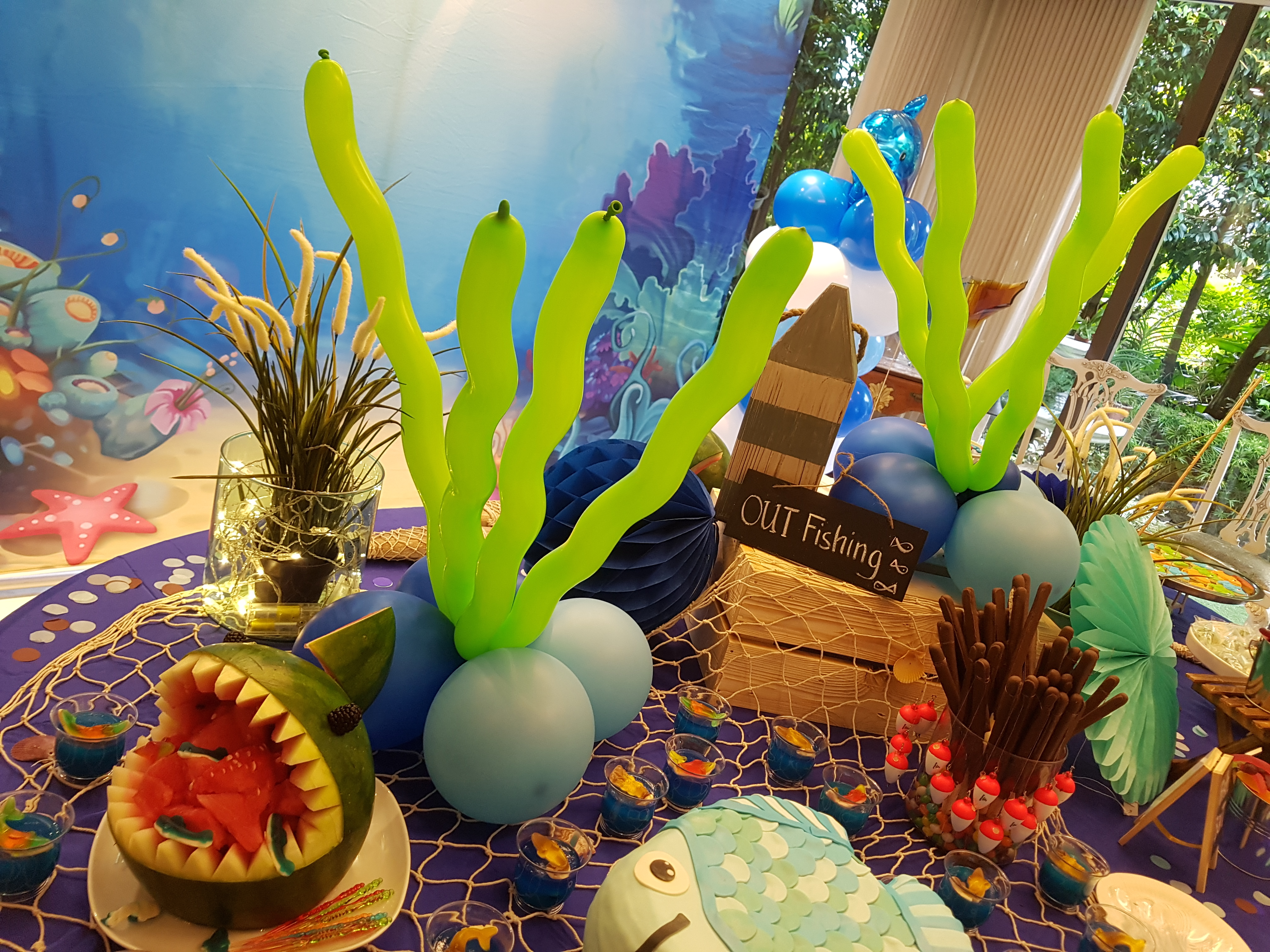Underwater Themed Balloon Decorations For Birthday Parties