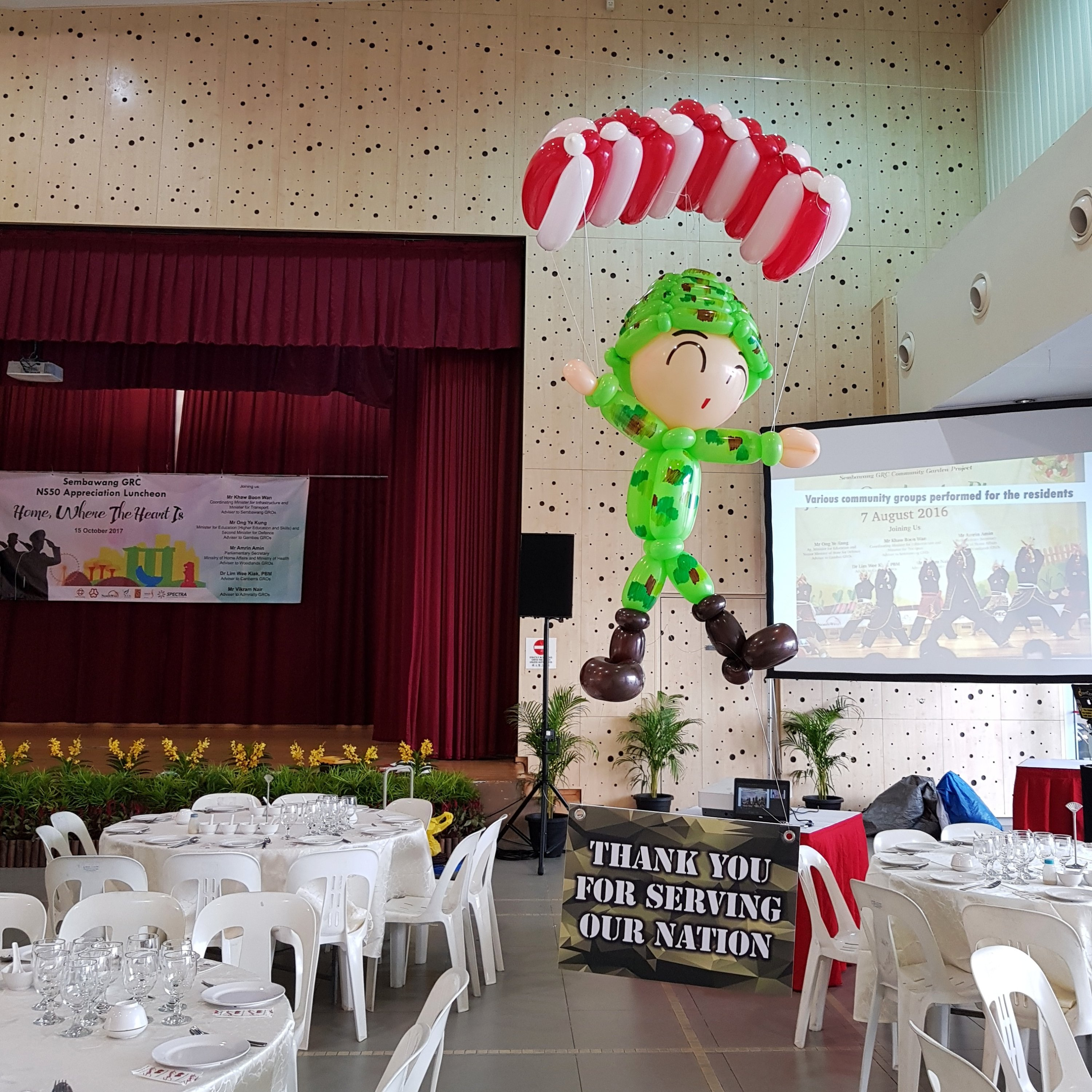 , National Day balloon decorations for NS 50!, Singapore Balloon Decoration Services - Balloon Workshop and Balloon Sculpting