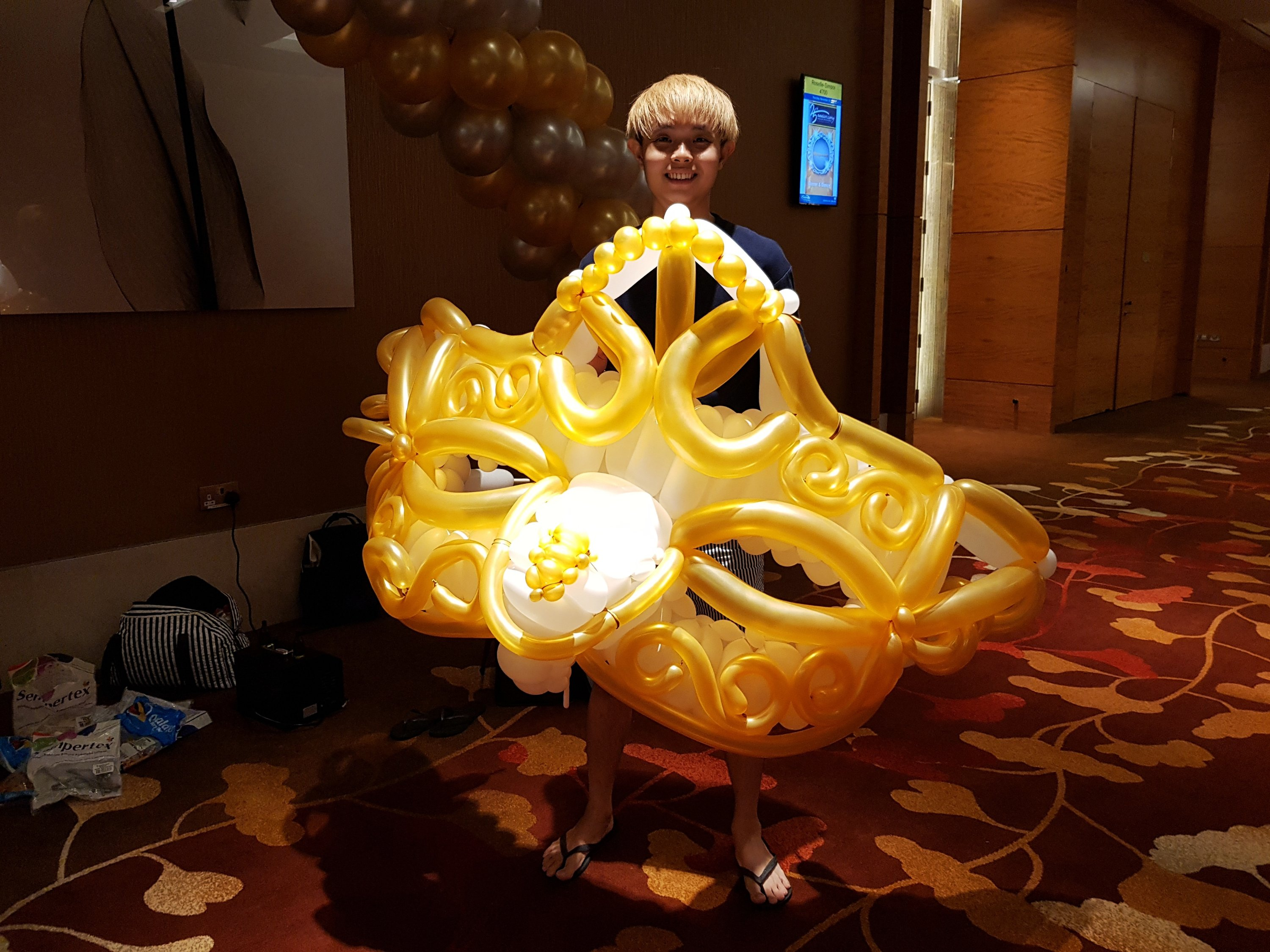 , Masquerade theme party for a local Secondary School!, Singapore Balloon Decoration Services - Balloon Workshop and Balloon Sculpting