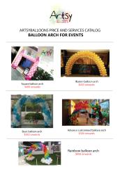 Balloon arch catalog