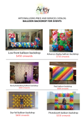 Balloon Backdrop catalog