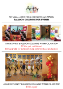Balloon columns catalog