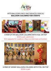 Balloon columns catalog