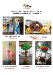 Balloon display catalog
