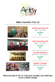 Balloon helium catalog