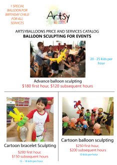 Balloon sculpting catalog