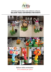 Balloon table centerpiece catalog