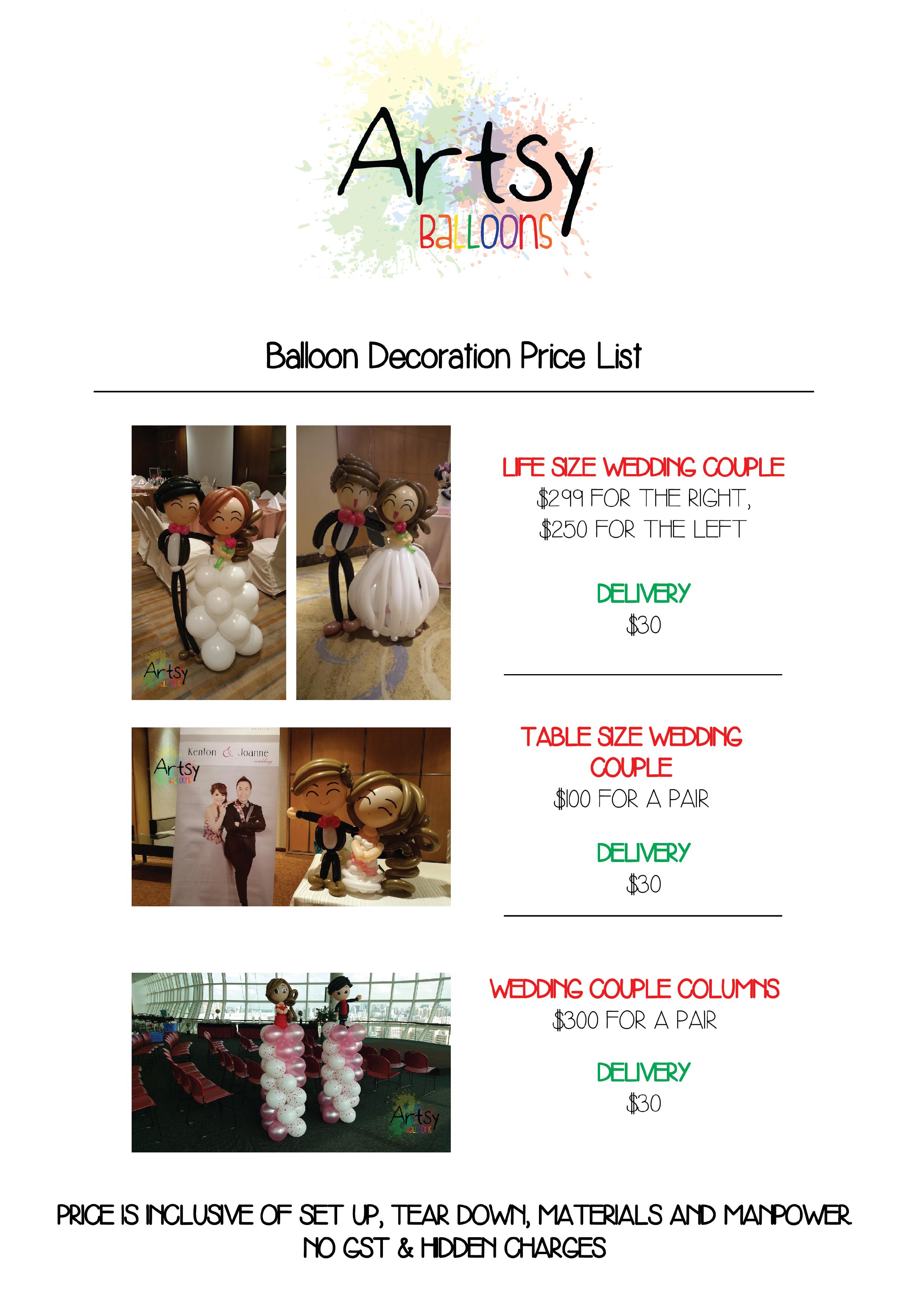 Balloon Wedding Catalog Singapore Balloon Decoration Services