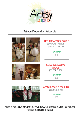 Balloon wedding catalog
