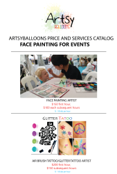 Face painting catalog