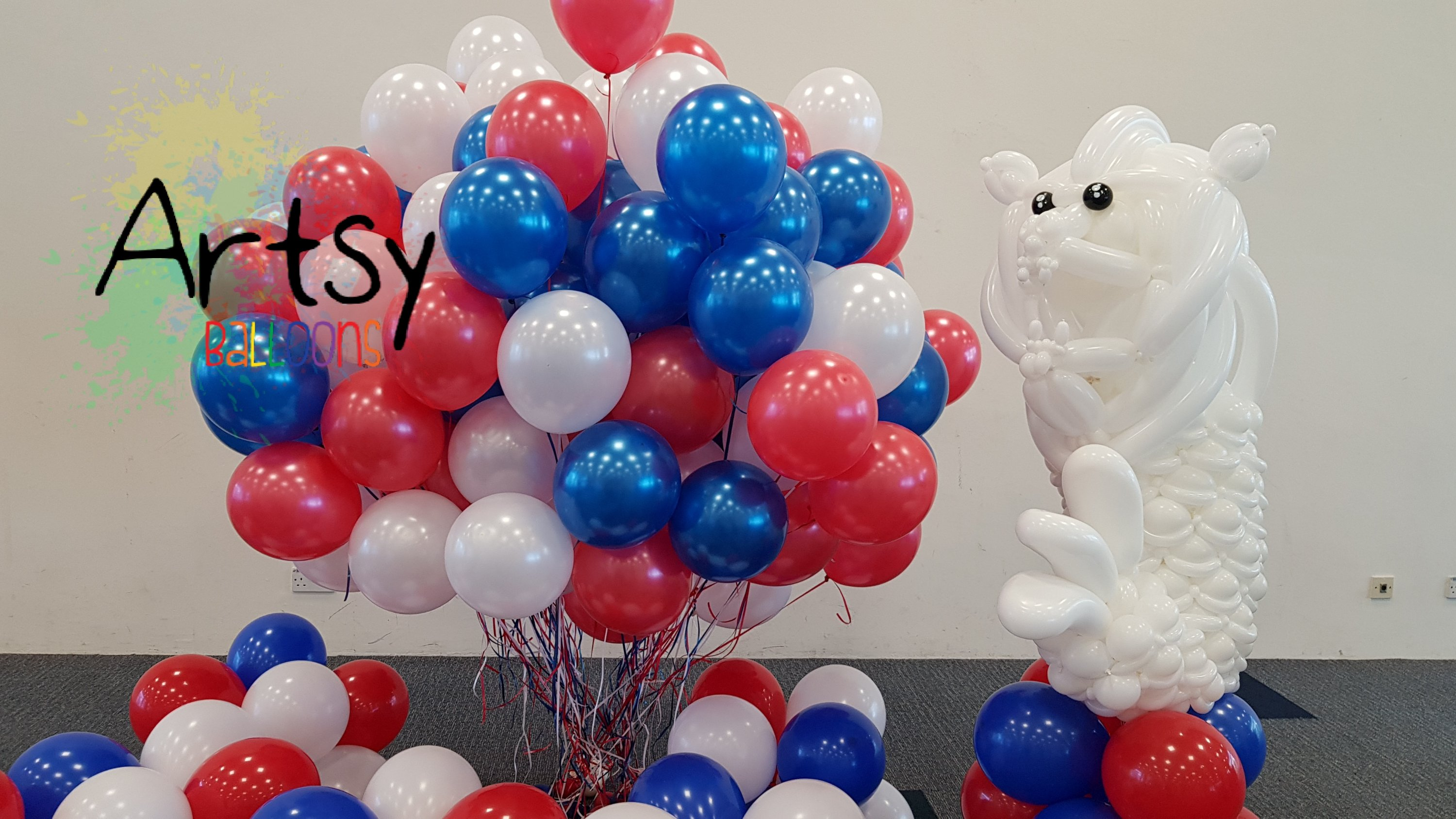 , Balloon decorations for NTU orientation for Overseas students!, Singapore Balloon Decoration Services - Balloon Workshop and Balloon Sculpting