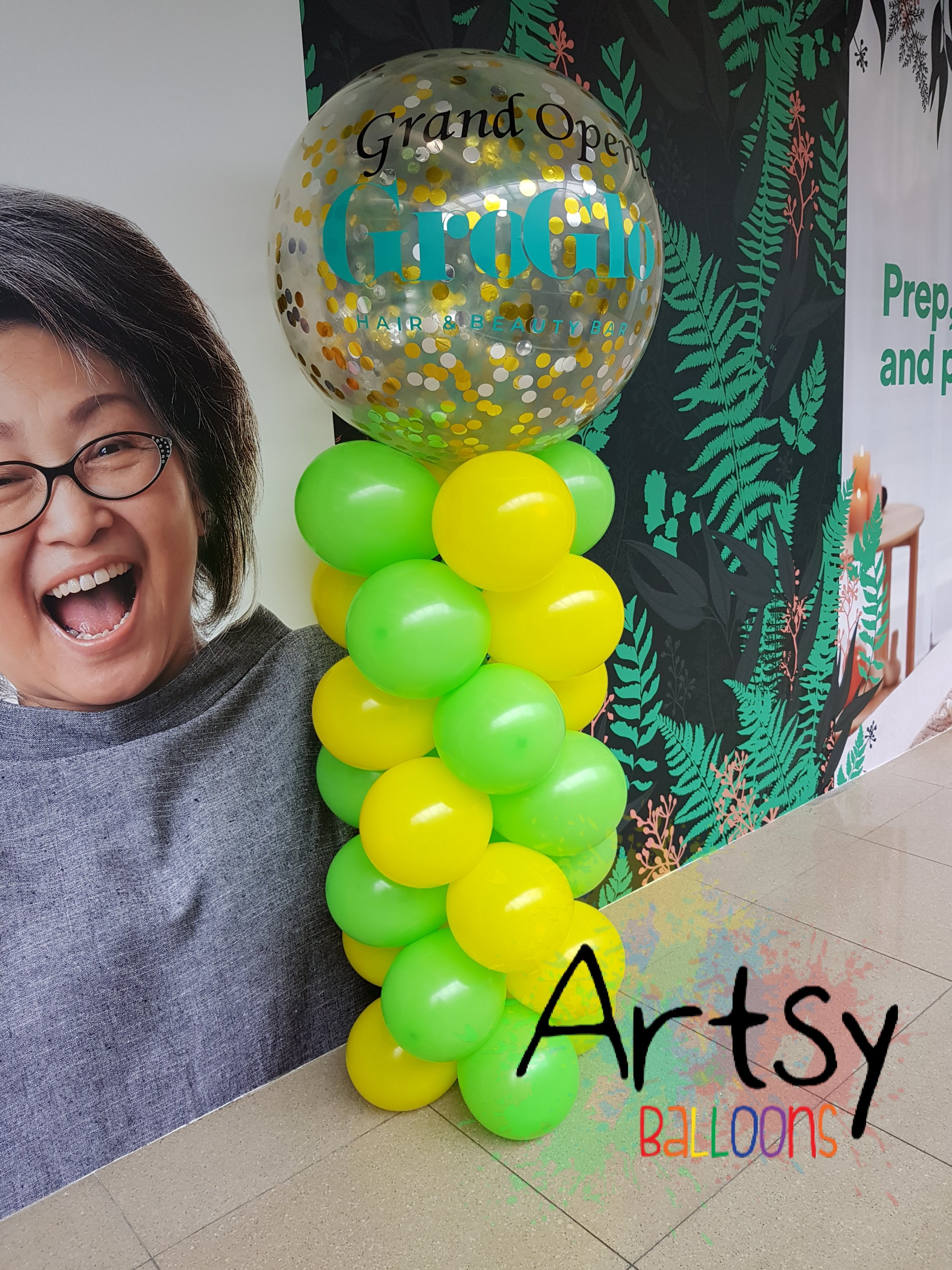 , Balloon decorations for grand opening! Flower stand made out of balloons!, Singapore Balloon Decoration Services - Balloon Workshop and Balloon Sculpting