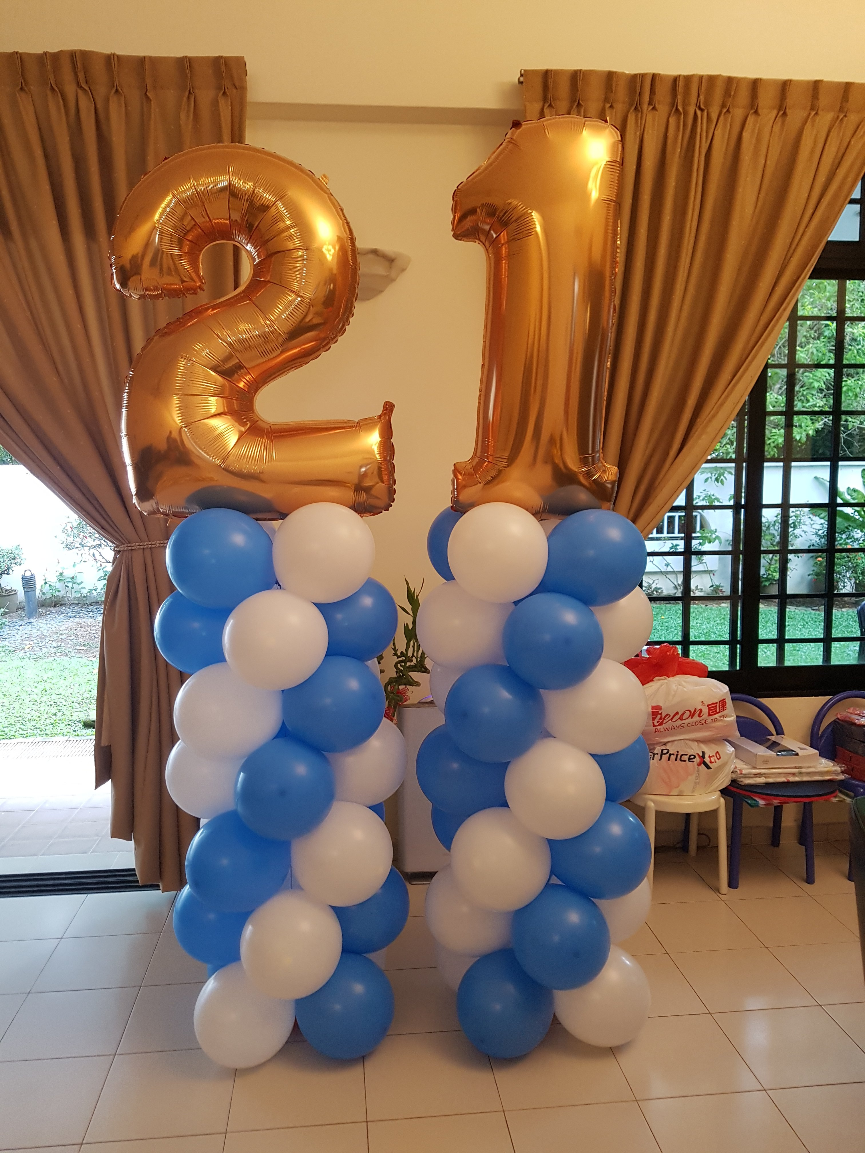 , Balloon Decorations for 21st birthday, Singapore Balloon Decoration Services - Balloon Workshop and Balloon Sculpting