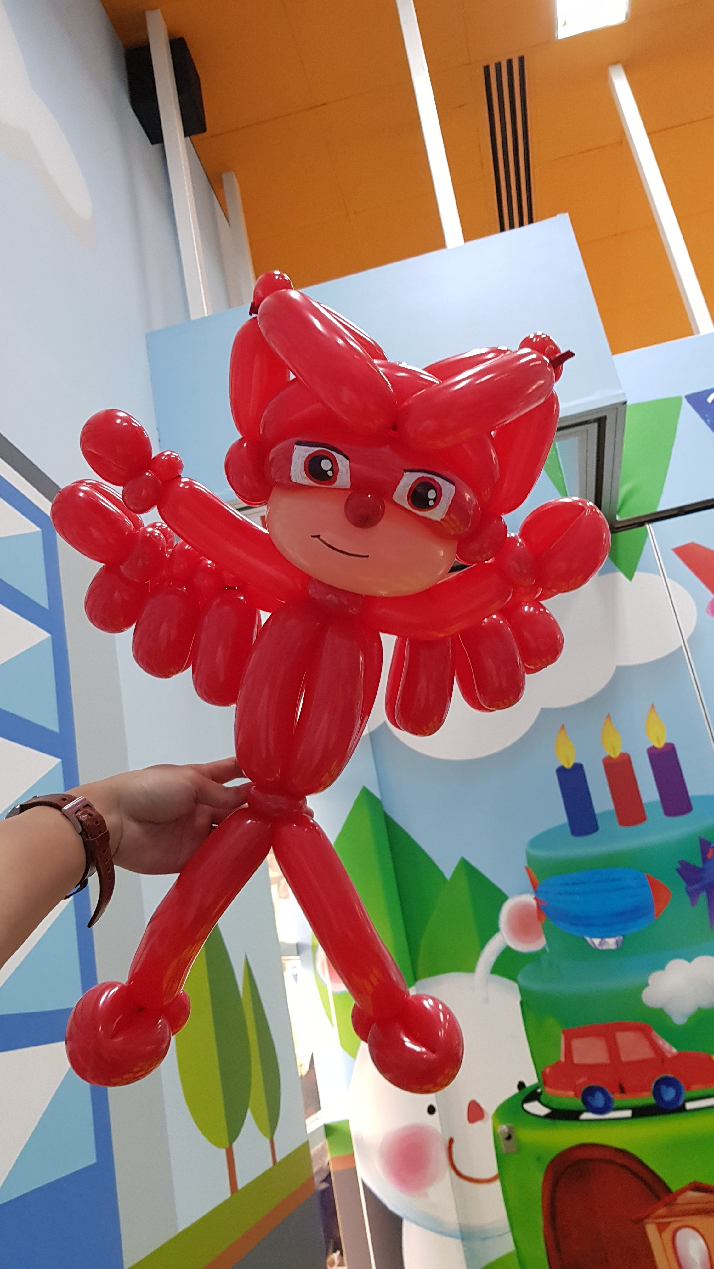 , Owlette from PJ mask Balloon sculpture!, Singapore Balloon Decoration Services - Balloon Workshop and Balloon Sculpting