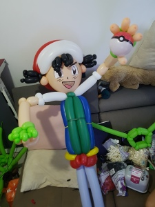 Ash Pokemon balloon sculpture