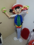 Ash Pokemon balloon sculpture