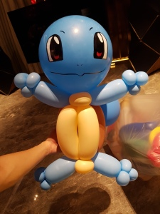Squirtle Pokemon balloon sculpture