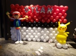 Pokemon themed balloon decoration
