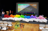 Organic Balloon decorations for school