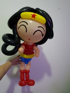 Wonder woman balloon Sculpture