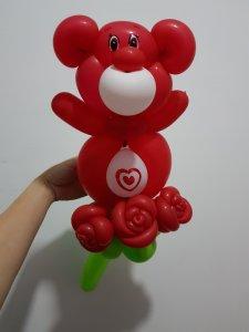 Carebear balloon sculpture