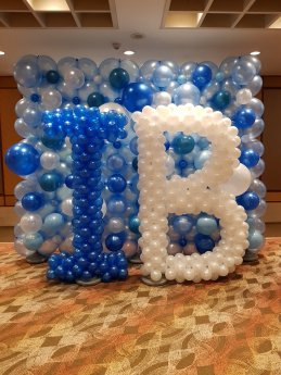 Alphabet balloon decoration